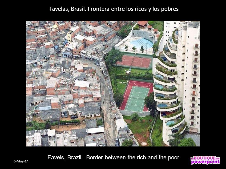 Favelas, Brasil.Frontera entre los ricos y los pobres Favels, Brazil.