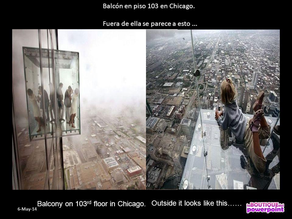 Balcón en piso 103 en Chicago.Fuera de ella se parece a esto...