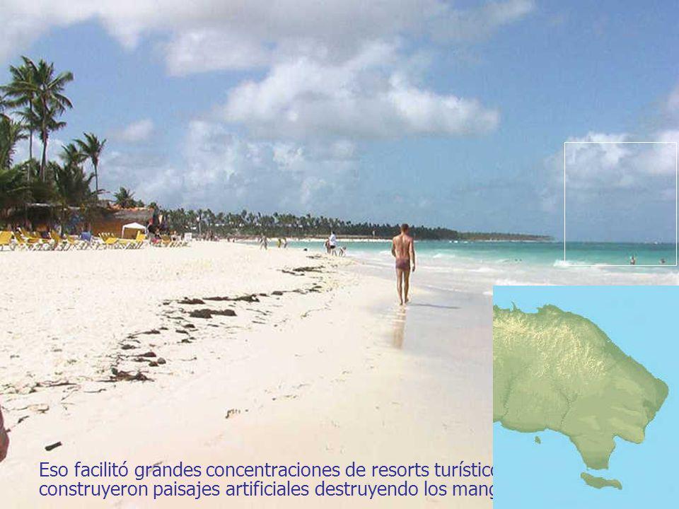 Eso facilitó grandes concentraciones de resorts turísticos que construyeron paisajes artificiales destruyendo los manglares.