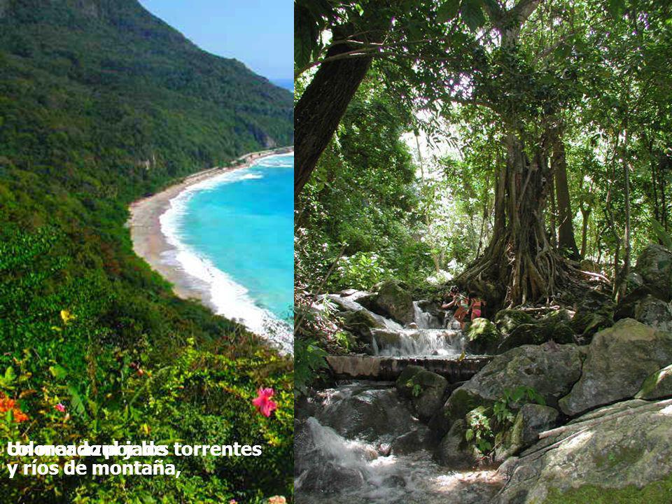 coloreado por los torrentes y ríos de montaña, Un mar azul jade