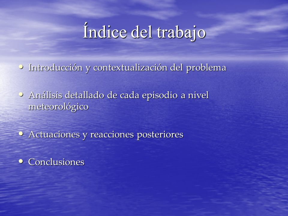 Índice del trabajo Introducción y contextualización del problema Introducción y contextualización del problema Análisis detallado de cada episodio a n