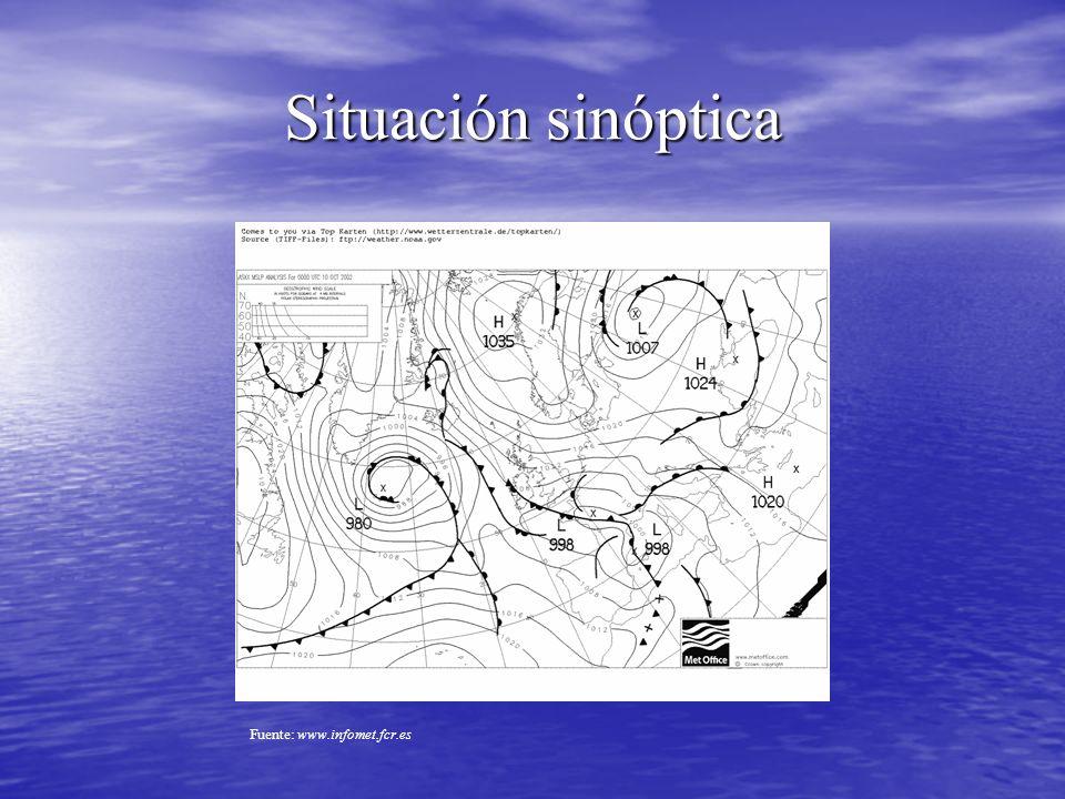 Situación sinóptica Fuente: www.infomet.fcr.es