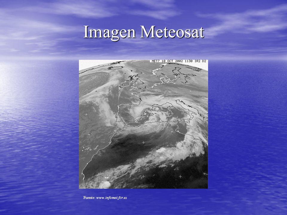 Imagen Meteosat Fuente: www.infomet.fcr.es