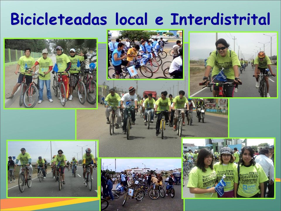 Bicicleteadas local e Interdistrital