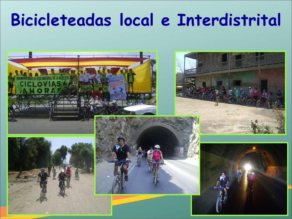 Bicicleteadas local e Interdistrital