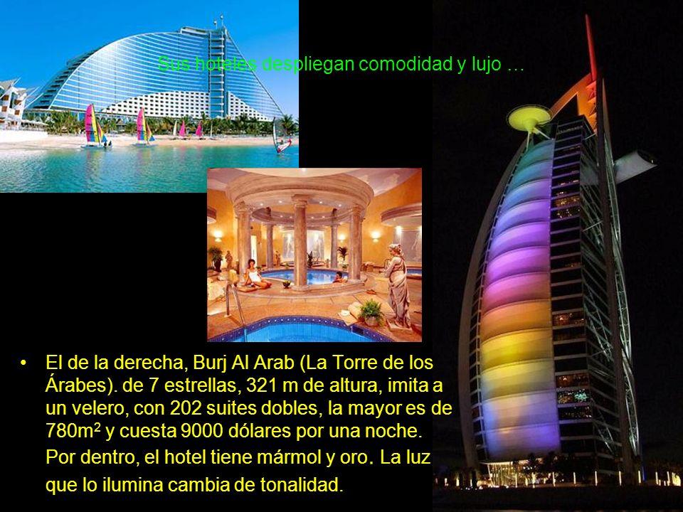 Hay un edificio torre giratorio, con 200 departamentos.