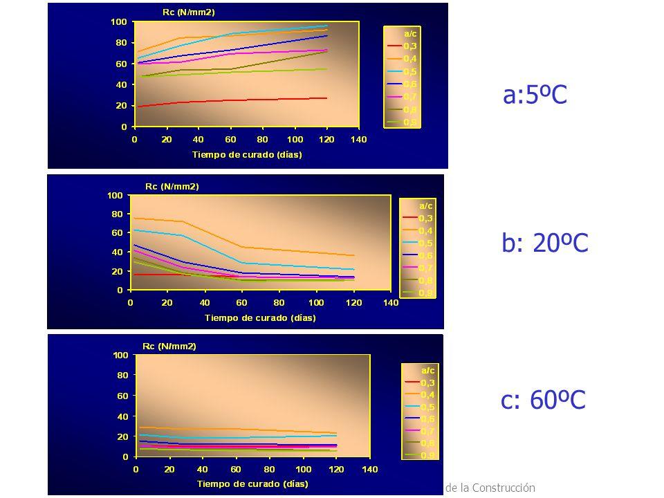 ROCÍO LAPUENTE ARAGÓ- Departamento de Ingeniería de la Construcción c: 60ºC a:5ºC b: 20ºC