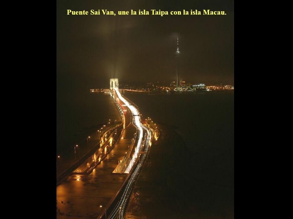 Puente Sai Van, une la isla Taipa con la isla Macau.