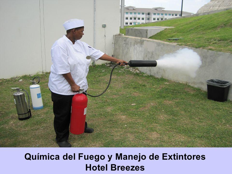 Química del Fuego y Manejo de Extintores Hotel Breezes