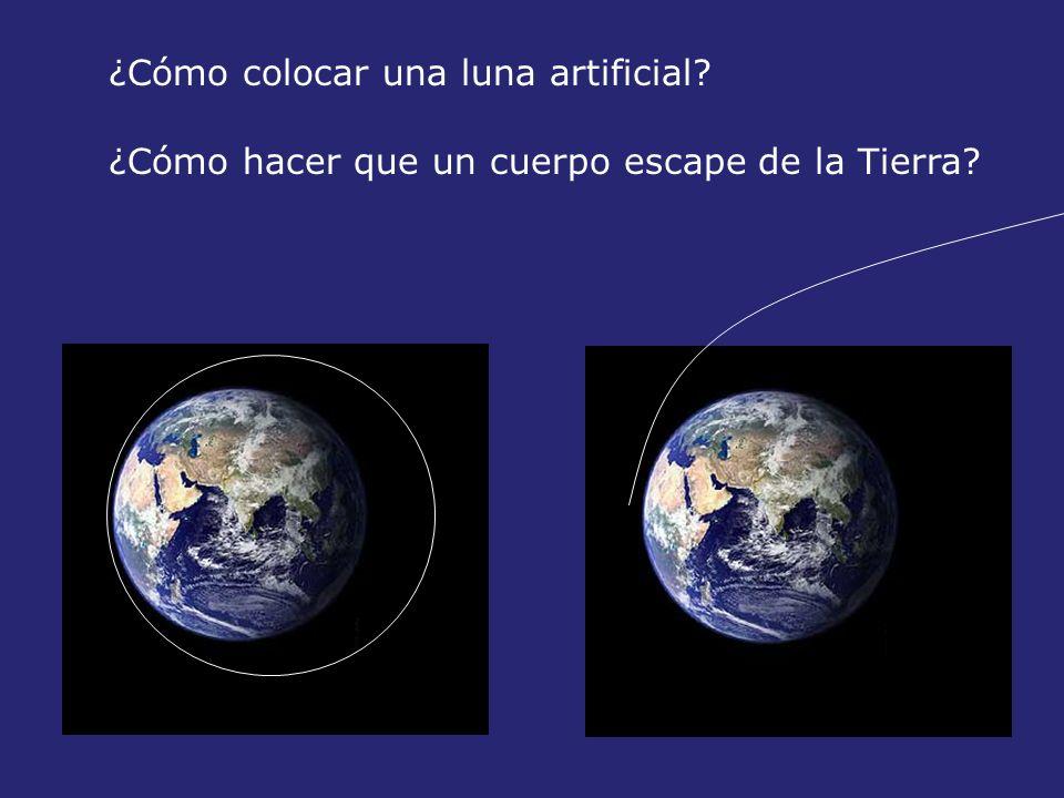 ¿Cómo colocar una luna artificial? ¿Cómo hacer que un cuerpo escape de la Tierra?