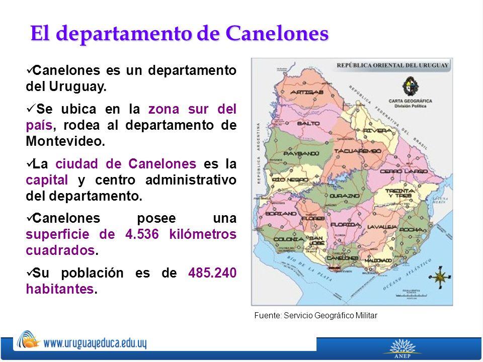 Canelones es un departamento del Uruguay. Se ubica en la zona sur del país, rodea al departamento de Montevideo. La ciudad de Canelones es la capital