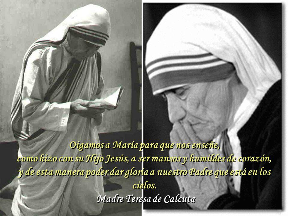 Deberíamos hacer con los pobres lo que hizo María con su prima Isabel: ponernos a su servicio. Madre Teresa de Calcuta Deberíamos hacer con los pobres