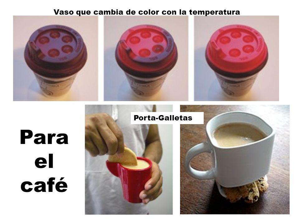 Para el café Vaso que cambia de color con la temperatura Porta-Galletas