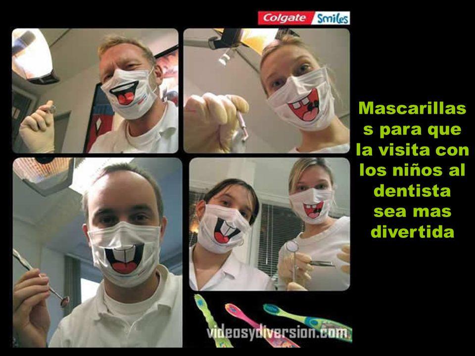 Mascarillas s para que la visita con los niños al dentista sea mas divertida