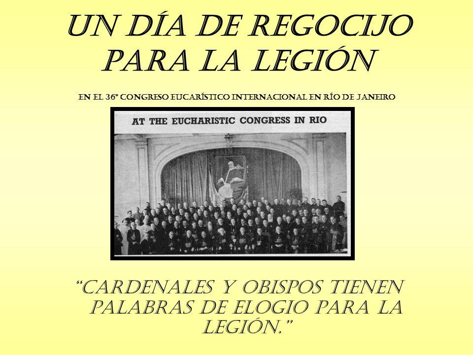 Resultados Netos: Curiae en Trujillo, Cuzco y Puno en Perú La primer Curia de Bolivia, en La Paz Unos 20 nuevos Praesidia en Lima La Legión fue visitada y fortalecida en Arequipa y Chimbote