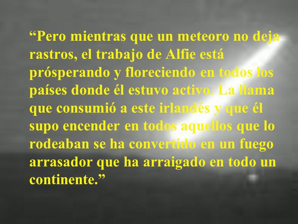 Un Meteoro La vida de Alfonso Lambe fue como un meteoro.