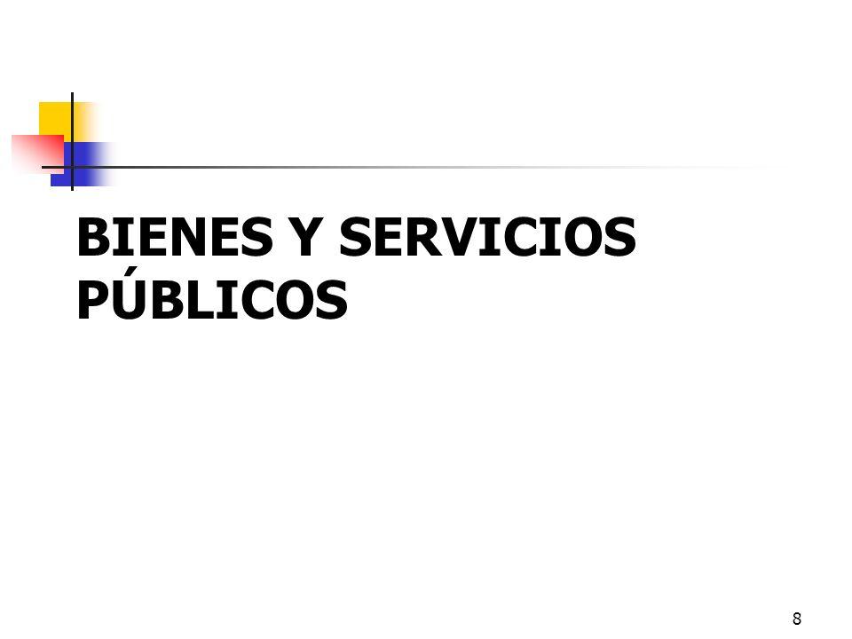 8 BIENES Y SERVICIOS PÚBLICOS
