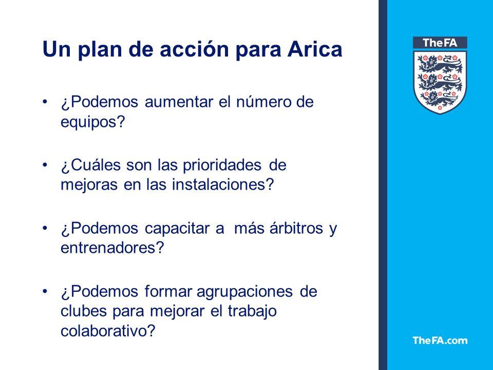 Un plan de acción para Arica ¿Podemos aumentar el número de equipos.