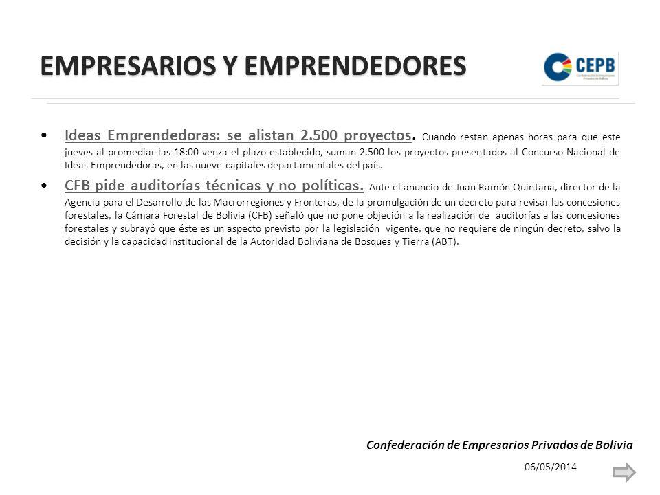 EMPRESARIOS Y EMPRENDEDORES Ideas Emprendedoras: se alistan 2.500 proyectos.