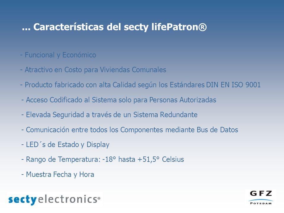 ... Características del secty lifePatron® - Funcional y Económico - Atractivo en Costo para Viviendas Comunales - Producto fabricado con alta Calidad