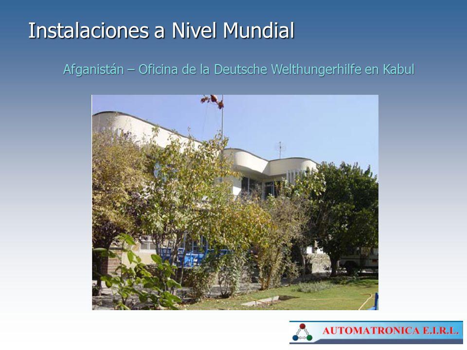 Instalaciones a Nivel Mundial Afganistán – Oficina de la Deutsche Welthungerhilfe en Kabul