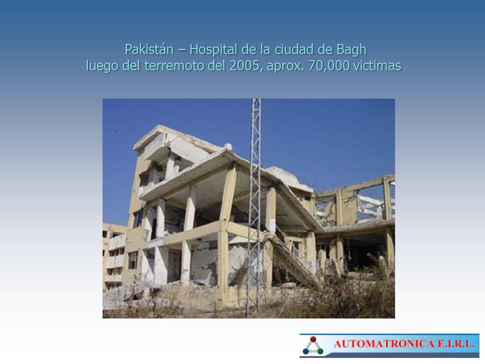 Pakistán – Hospital de la ciudad de Bagh luego del terremoto del 2005, aprox. 70,000 victimas