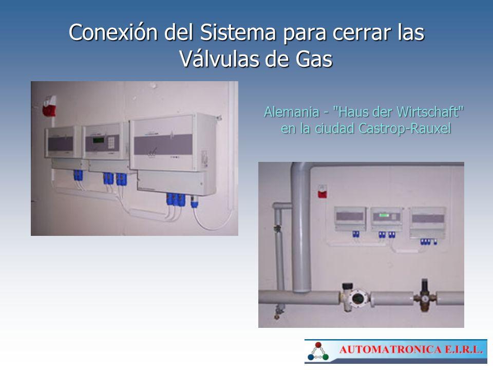 Conexión del Sistema para cerrar las Válvulas de Gas Alemania -