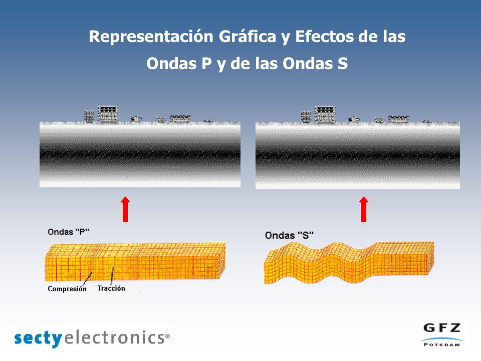 Representación Gráfica y Efectos de las Ondas P y de las Ondas S