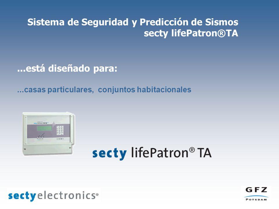 Sistema de Seguridad y Predicción de Sismos secty lifePatron®TA...está diseñado para:...casas particulares, conjuntos habitacionales