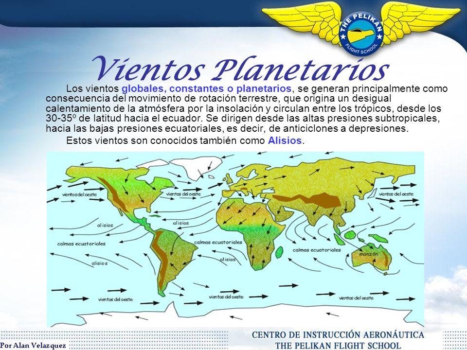 Tipos deViento De acuerdo con la escala o dimensión del recorrido de los vientos podemos clasificarlos en 3 tipos: *Planetarios *Regionales *Locales
