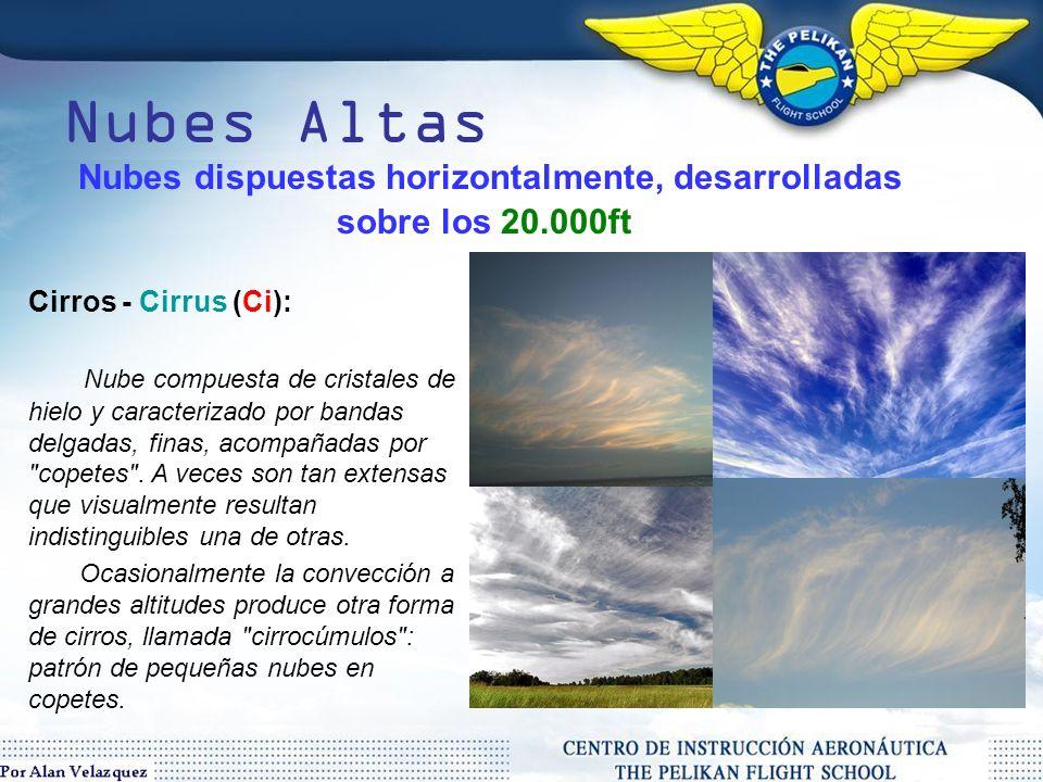 Nubes Medias Altocumulos - Altocumulus (Ac): Nube de clase caracterizada por masas globulares o arrollamientos en capas.