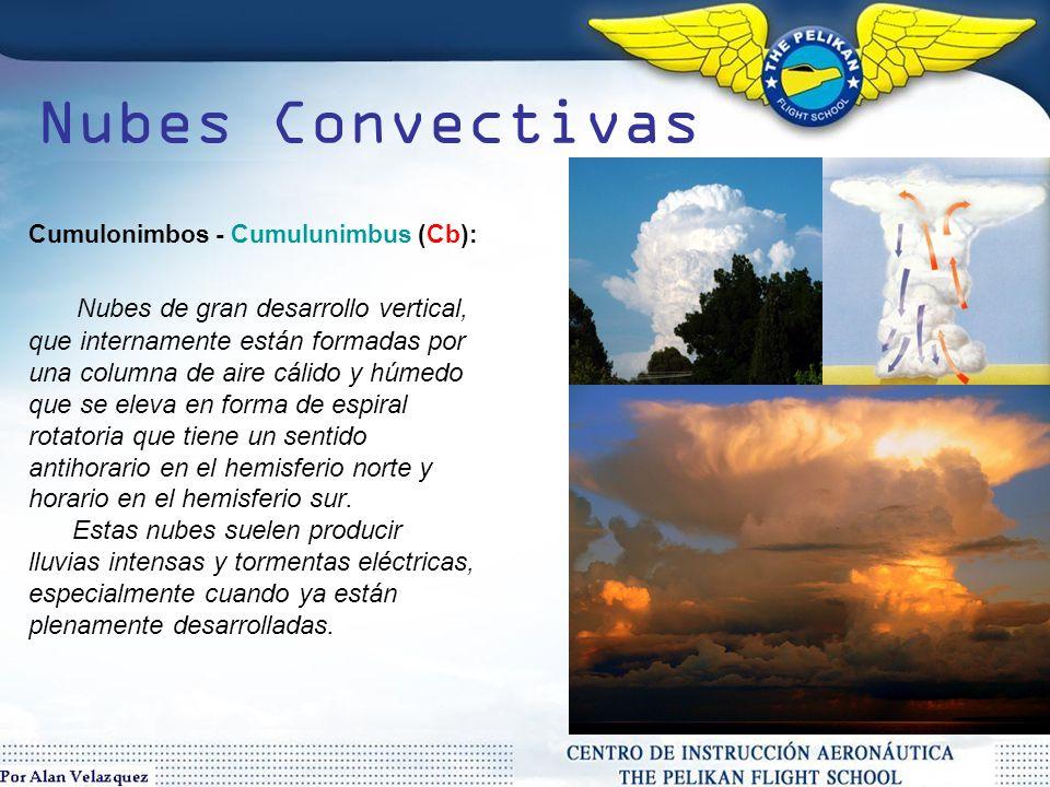 Nubes Convectivas Nubes dispuestas verticalmente, desarrolladas entre 0ft / 50.000ft.