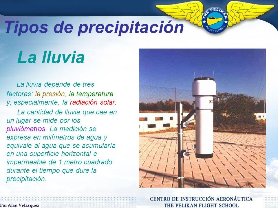 Tipos de precipitación La lluvia (del latin pluvia) es un fenómeno atmosférico de tipo acuático que se inicia con la condensación del vapor de agua contenido en las nubes.
