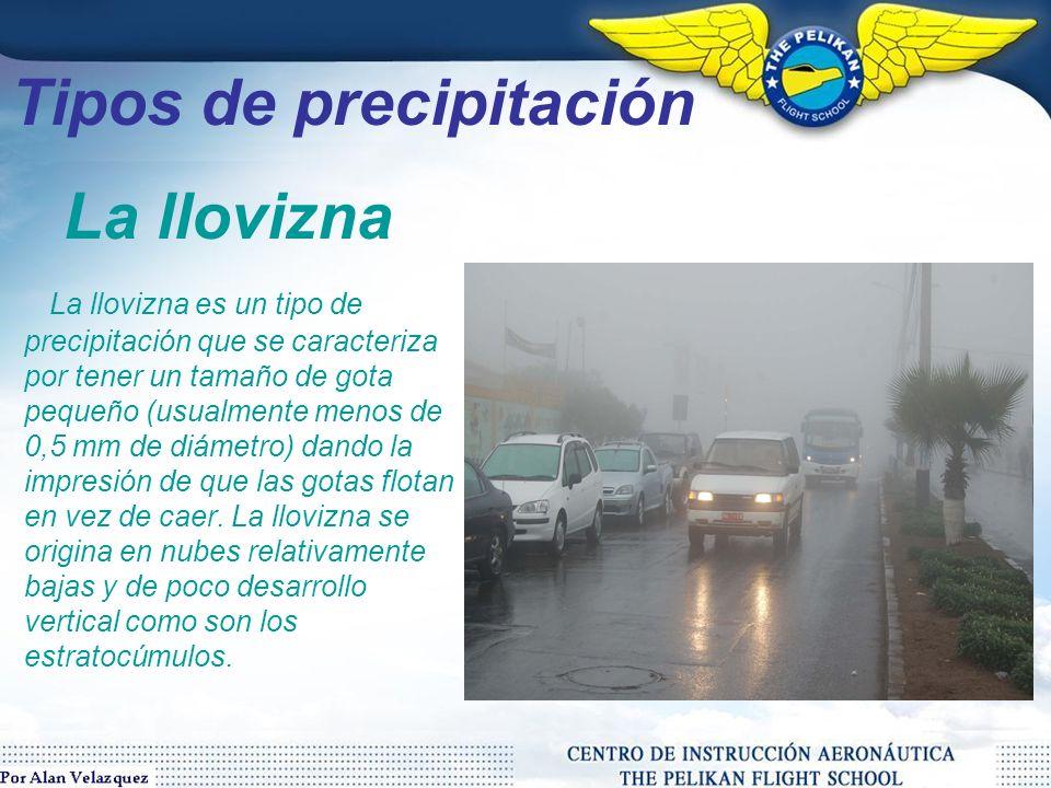Tipos de precipitación La lluvia depende de tres factores: la presión, la temperatura y, especialmente, la radiación solar.