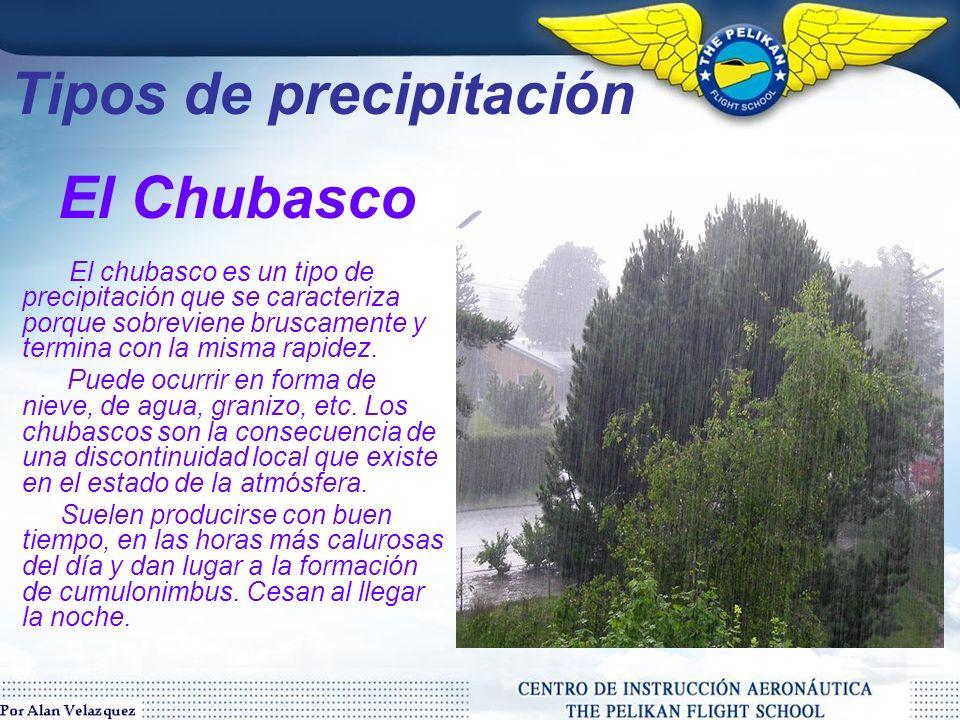 Tipos de precipitación El granizo o pedrisco es un tipo de precipitación que consiste en partículas irregulares de hielo.