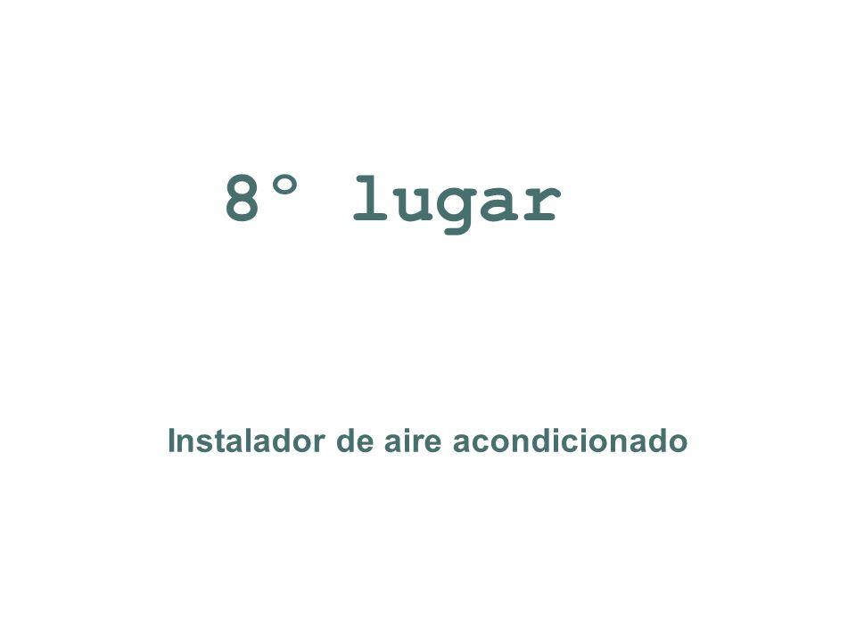 Instalador de aire acondicionado 8º lugar