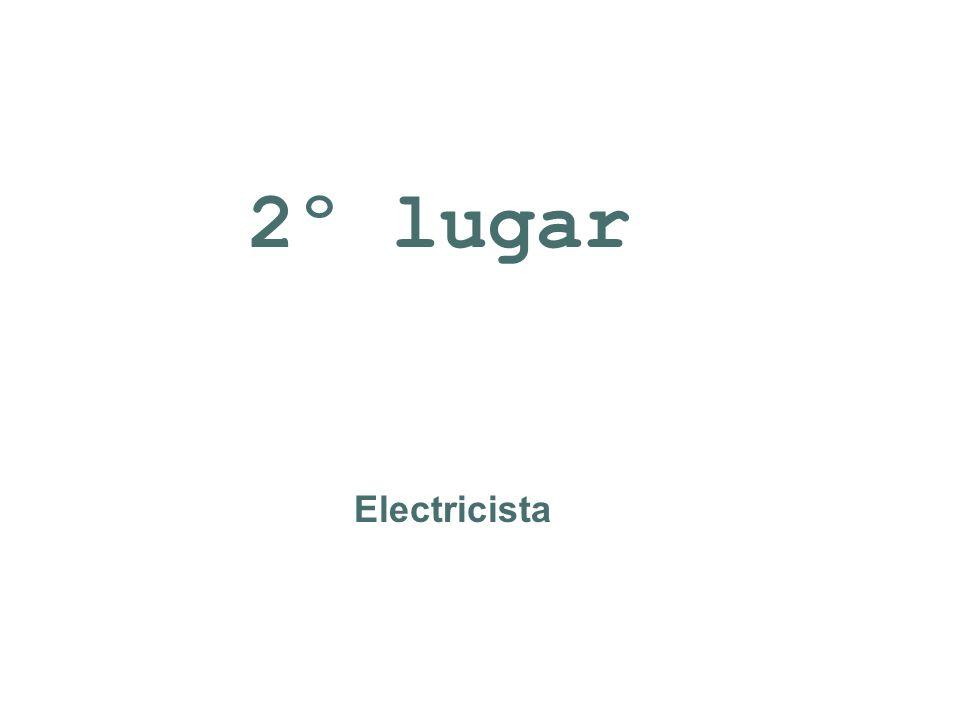 Electricista 2º lugar
