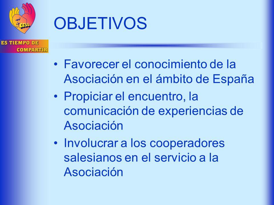 OBJETIVOS Favorecer el conocimiento de la Asociación en el ámbito de España Propiciar el encuentro, la comunicación de experiencias de Asociación Invo