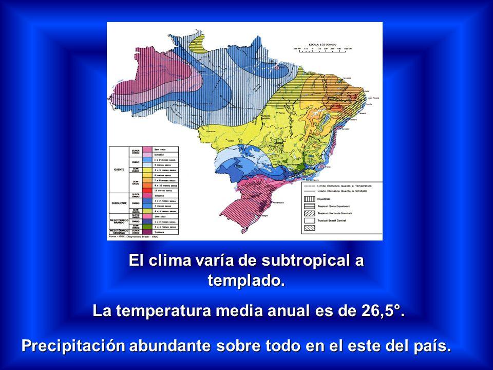 El clima varía de subtropical a templado.La temperatura media anual es de 26,5°.