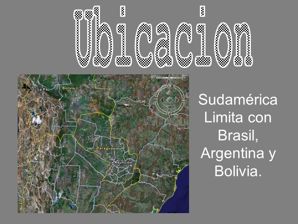Sudamérica Limita con Brasil, Argentina y Bolivia.