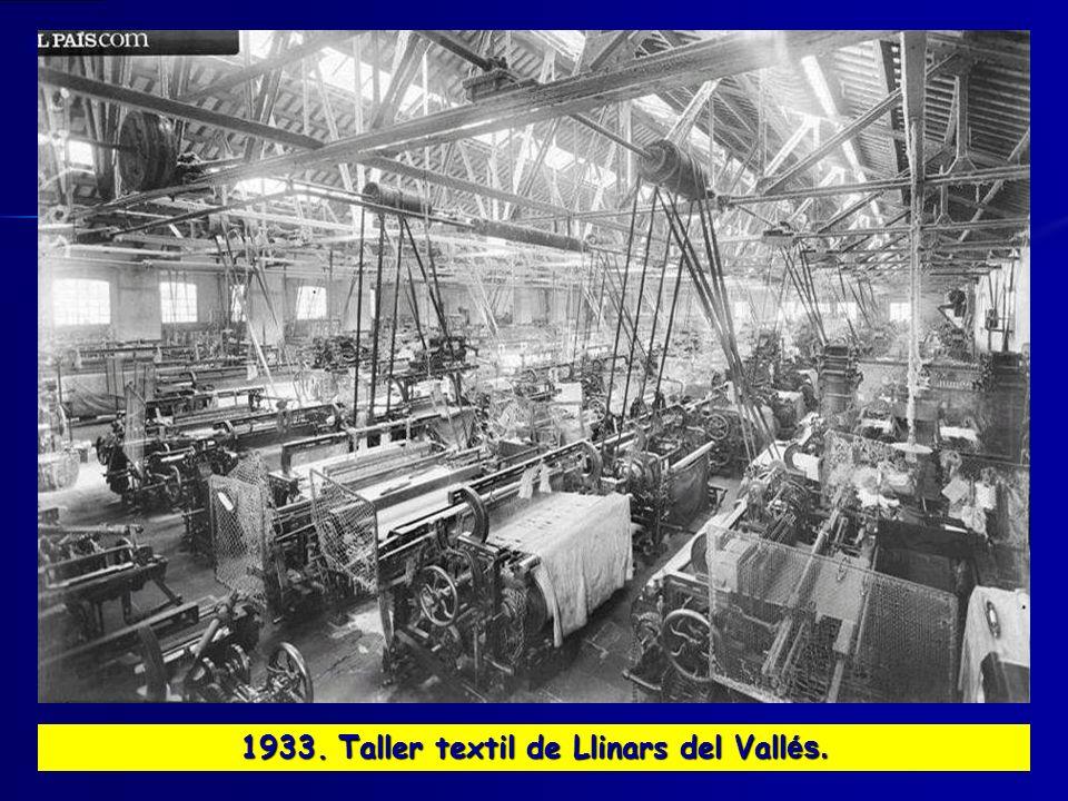 1933. Taller textil de Llinars del Vall és.