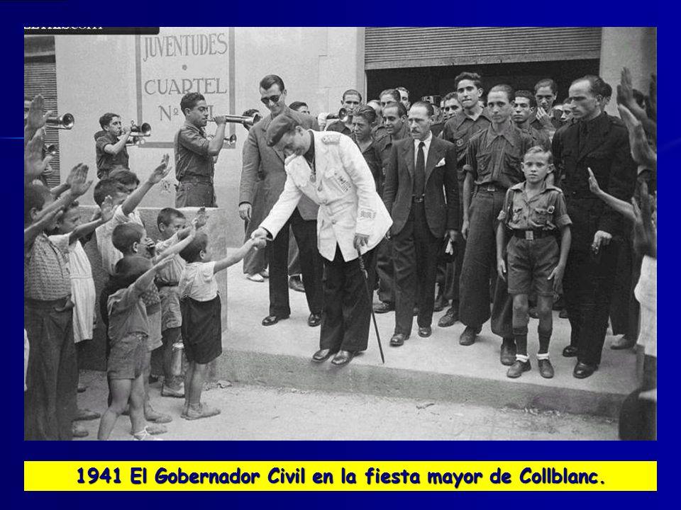 1941 El Gobernador Civil en la fiesta mayor de Collblanc.
