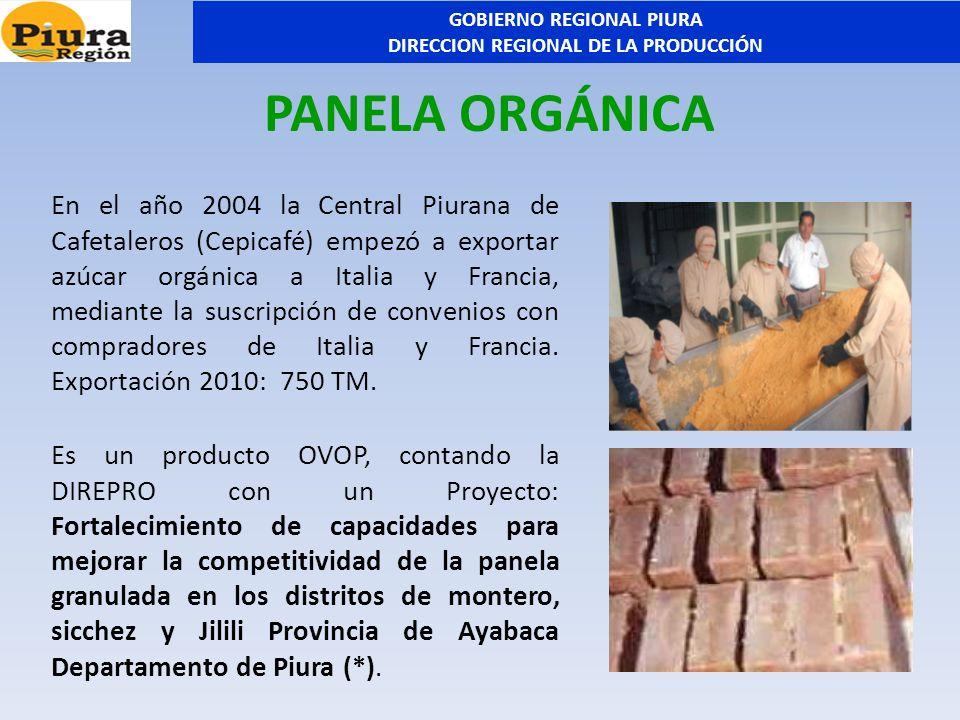 En el año 2004 la Central Piurana de Cafetaleros (Cepicafé) empezó a exportar azúcar orgánica a Italia y Francia, mediante la suscripción de convenios