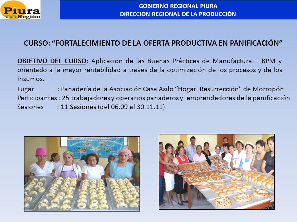 Lugar : Panadería de la Asociación Casa Asilo Hogar Resurrección de Morropón Participantes : 25 trabajadores y operarios panaderos y emprendedores de