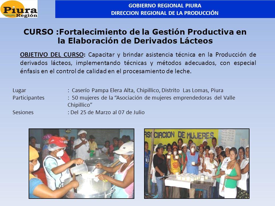 Lugar: Caserío Pampa Elera Alta, Chipillico, Distrito Las Lomas, Piura Participantes: 50 mujeres de la Asociación de mujeres emprendedoras del Valle C