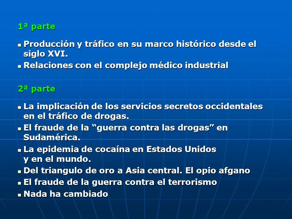 1ª parte Producción y tráfico en su marco histórico desde el siglo XVI. Producción y tráfico en su marco histórico desde el siglo XVI. Relaciones con