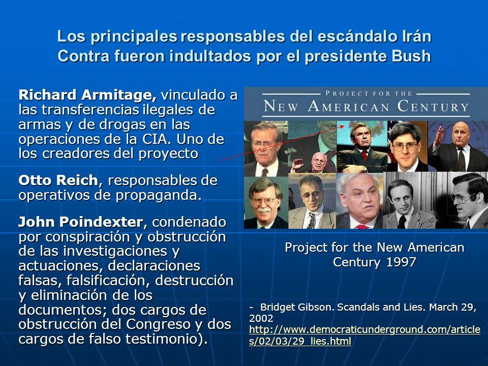 Los principales responsables del escándalo Irán Contra fueron indultados por el presidente Bush Richard Armitage, vinculado a las transferencias ilega