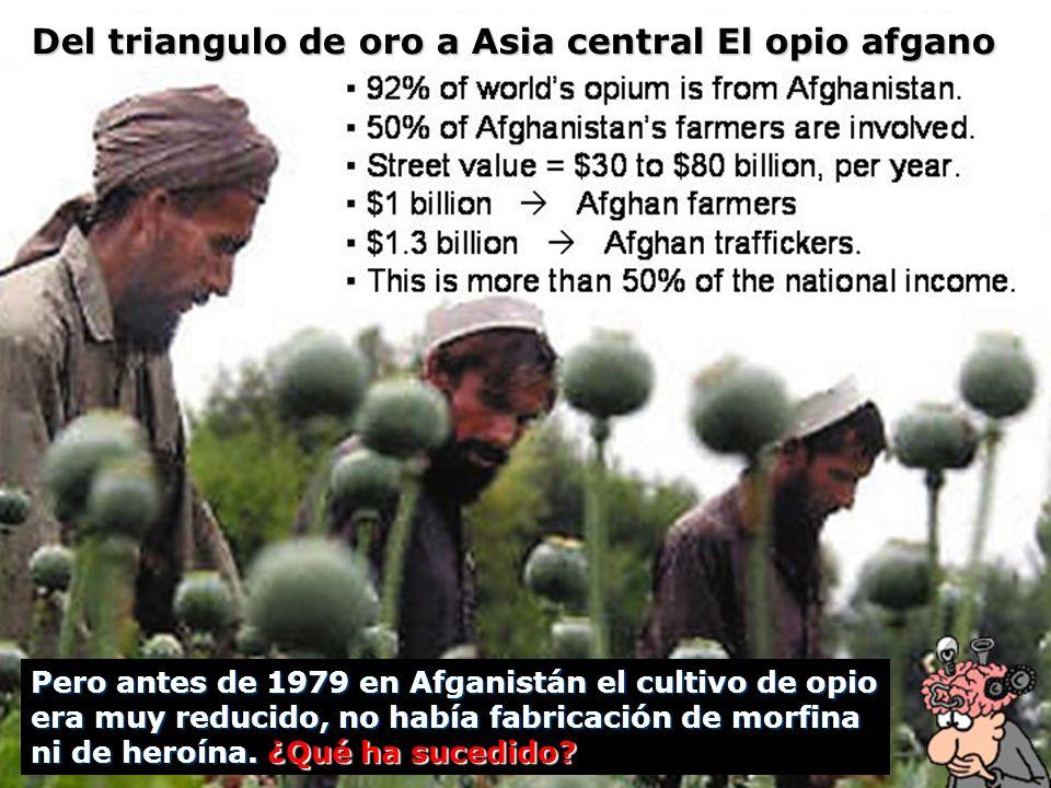 Pero antes de 1979 en Afganistán el cultivo de opio era muy reducido, no había fabricación de morfina ni de heroína. ¿Qué ha sucedido? Del triangulo d
