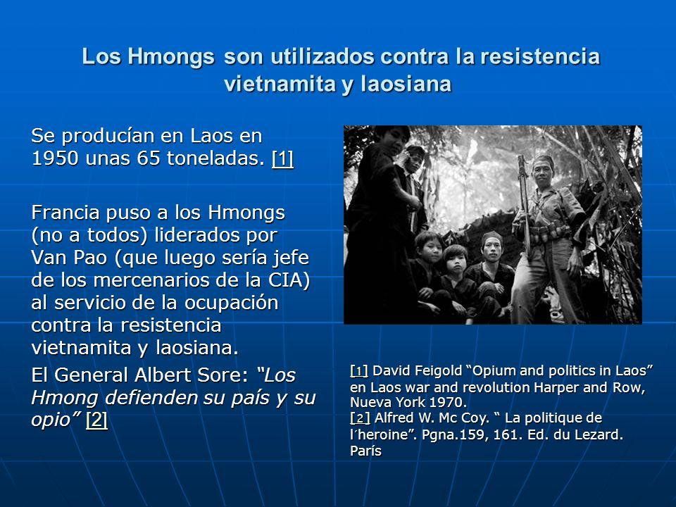 Los Hmongs son utilizados contra la resistencia vietnamita y laosiana Los Hmongs son utilizados contra la resistencia vietnamita y laosiana Se producí