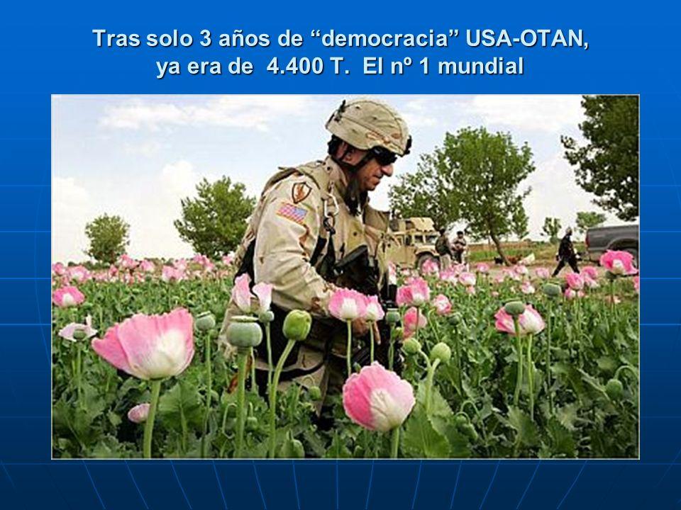 Tras solo 3 años de democracia USA-OTAN, ya era de 4.400 T. El nº 1 mundial